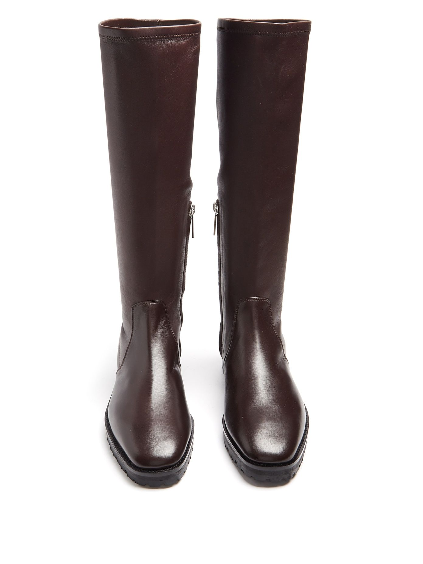 0f1bf470 Click here to buy The Row Fiona stretch-leather knee-high boots at  MATCHESFASHION.COM