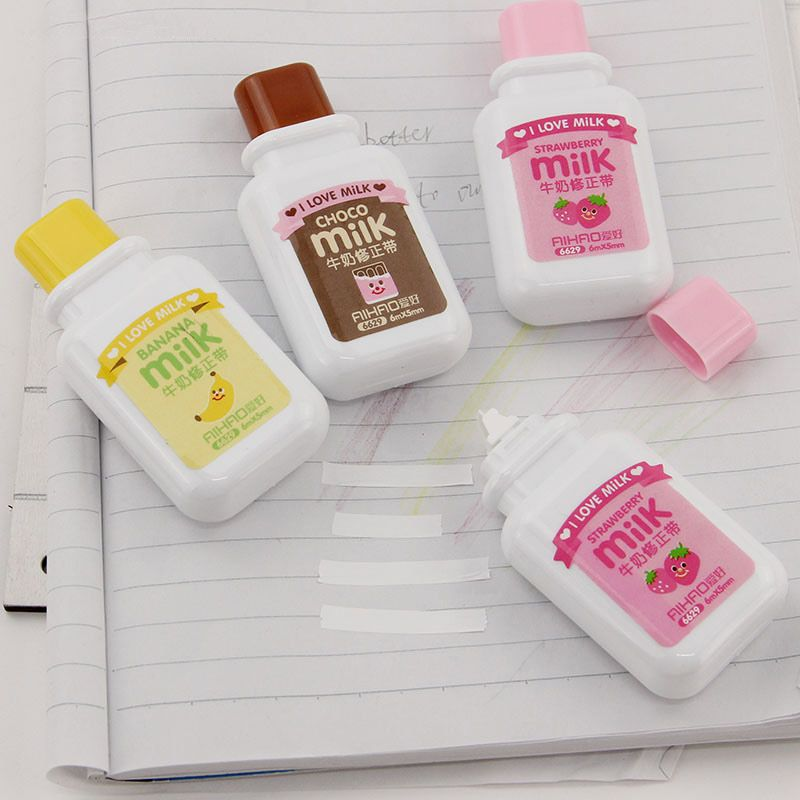 1pcs Creative Stationery Cute Novelty Milky Correction Tape School Office  Supply #shoes, #jewelry