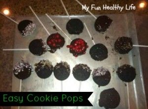 Easy Chocolate Covered Sandwich Cookie Pops - great project for the kids to make