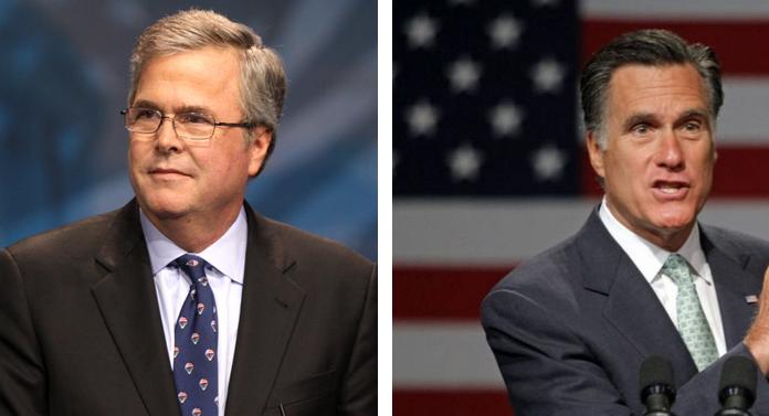Jeb Bush Left Is The Second Son Of Former President George H W And Barbara Bush Bush Family Barbara Bush Mitt Romney