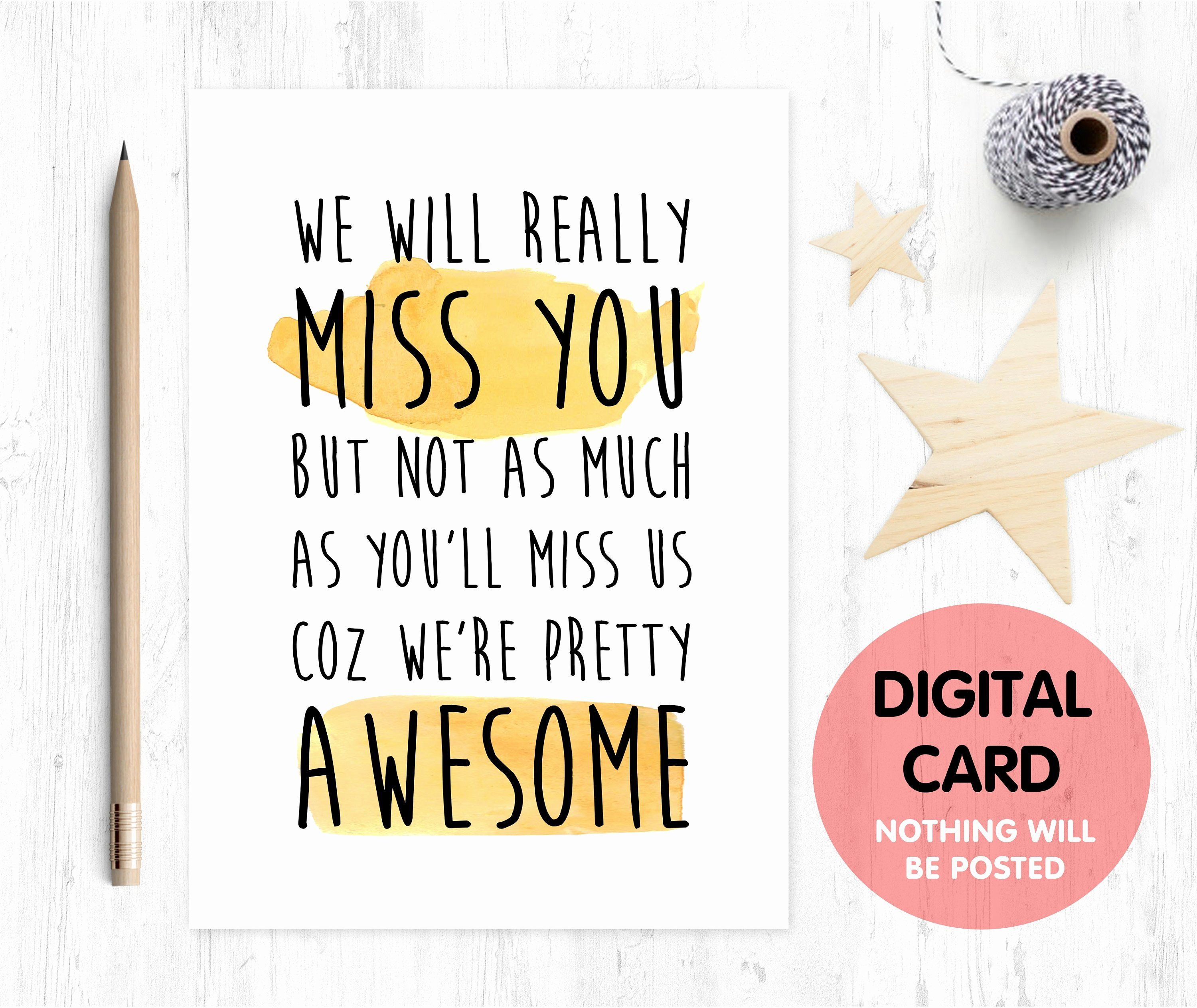 Farewell Card Template New Free Retirement Cards to Print