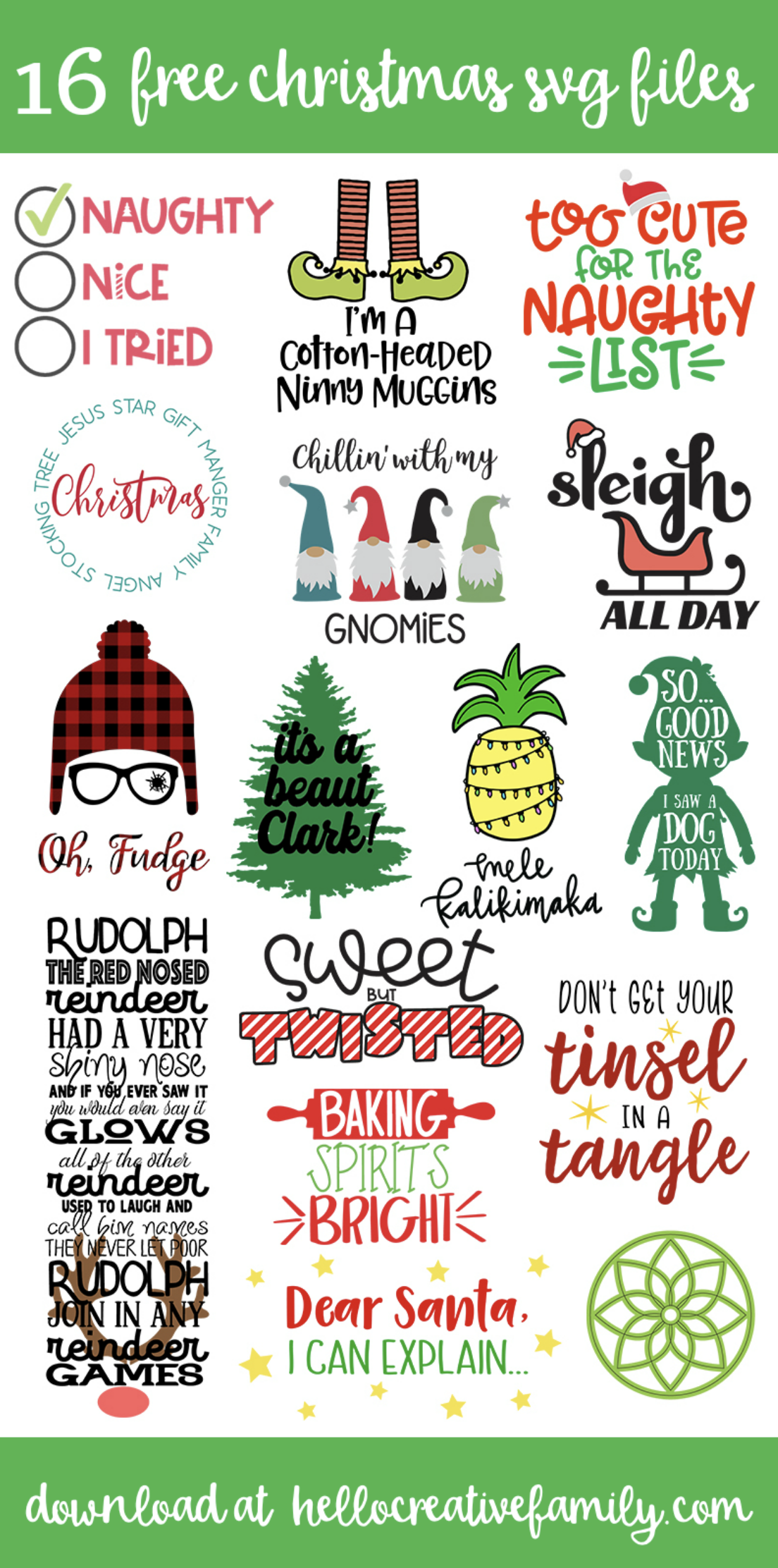 Free Christmas Story SVG 16 Christmas Cut Files