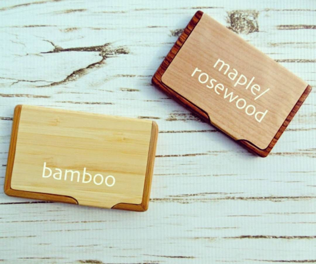 We have added this new BAMBOO business card holder for you guys in ...
