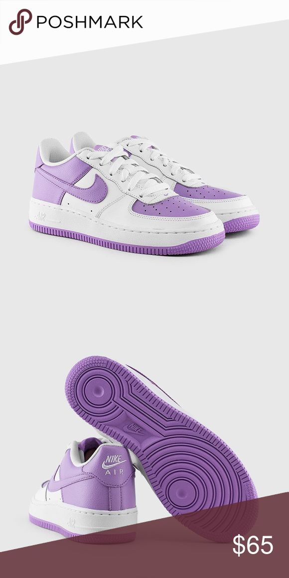 buy online 30c32 4928d Nike Air Force 1 womens size 8.5 white lilac shoes Brand new ...
