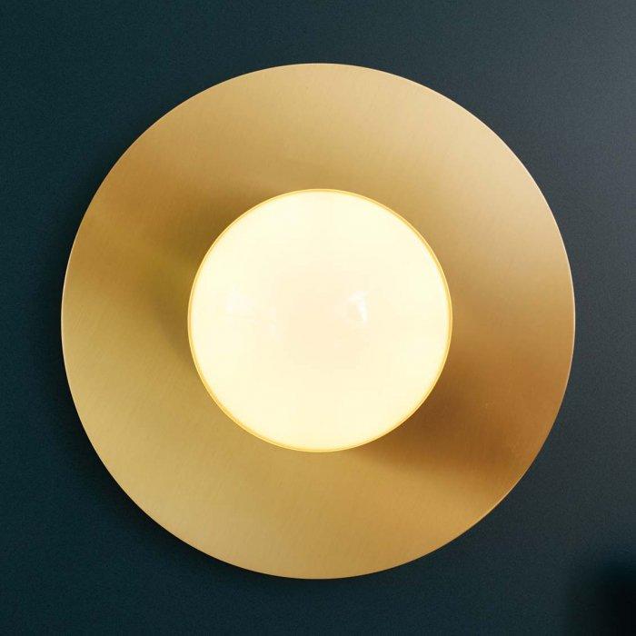 Grande Applique Disque En Laiton Le Petit Florilege Luminaires Appliques En Laiton Luminaire Laiton