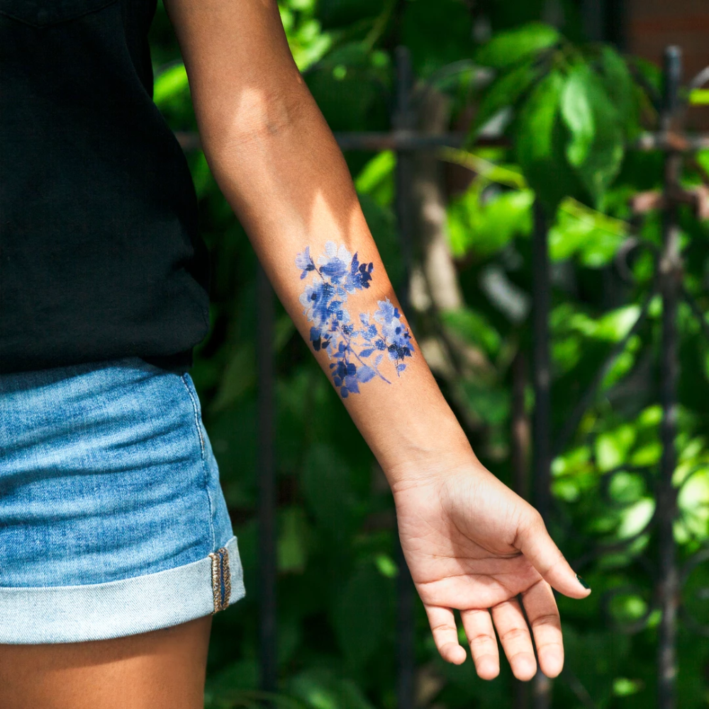 Photo of Blue Florals Set – Homemade Tattoo 2020