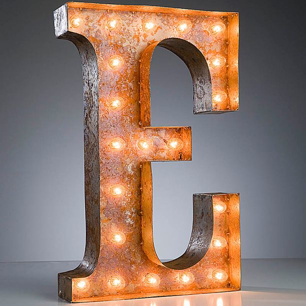 """""""E"""" Marquee Light design inspiration on Fab.  just the perfect gift for my son!"""