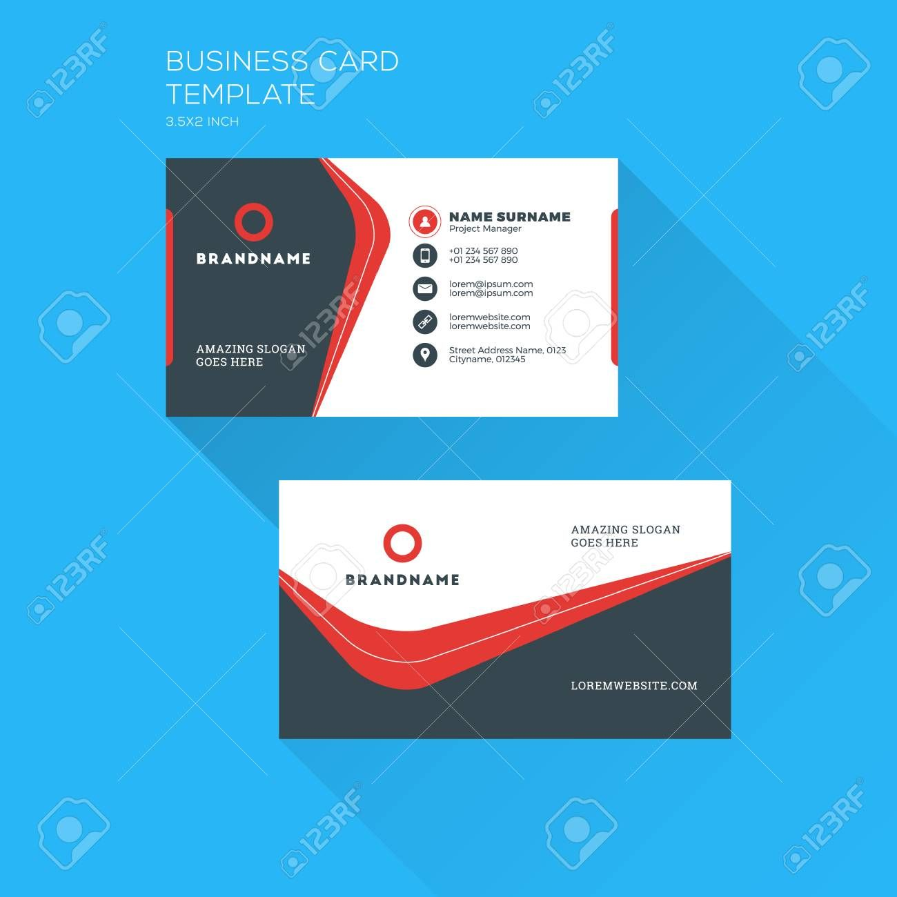 Corporate Business Card Print Template Personal Visiting Card Within Free Personal Business Card Templates Cumed Org