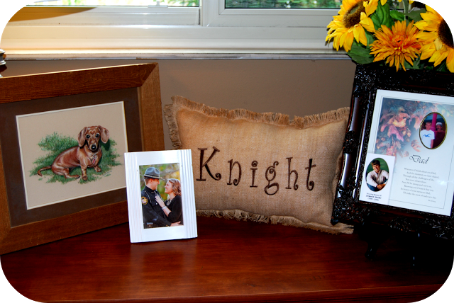 A Special Place In Our House- Burlap Name Pillow