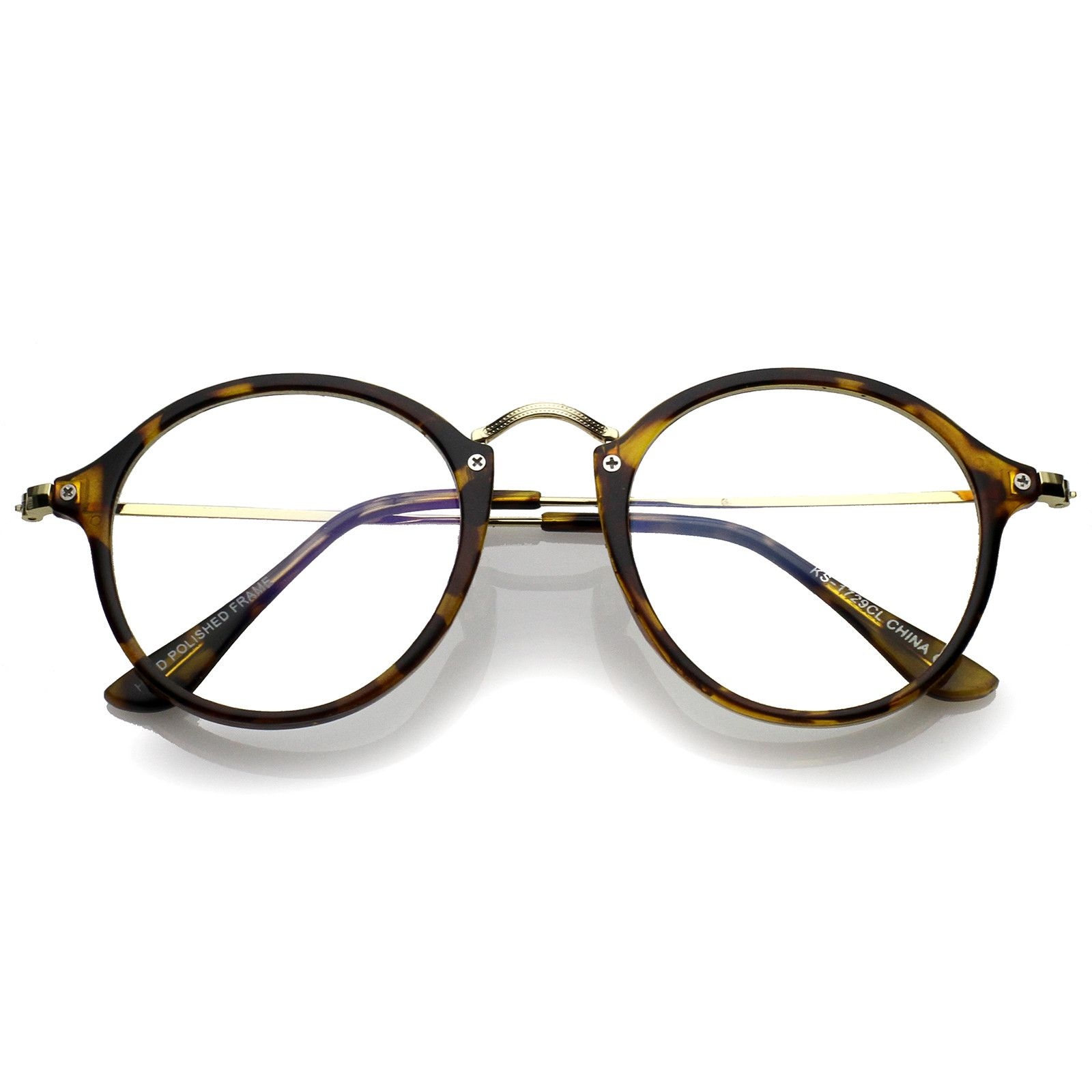 d13a498ff5df1 Classic Slim Metal Temple Clear Lens P3 Round Eyeglasses 48mm  clear  frame   oversized  mirrored  sunglass  purple  bold  sunglasses  cateye  sunglassla
