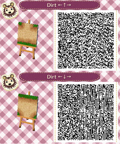 Acnl Dirt Path Set 5 Upper And Lower Intersection Animal Crossing Qr Animal Crossing 3ds Qr Codes Animal Crossing