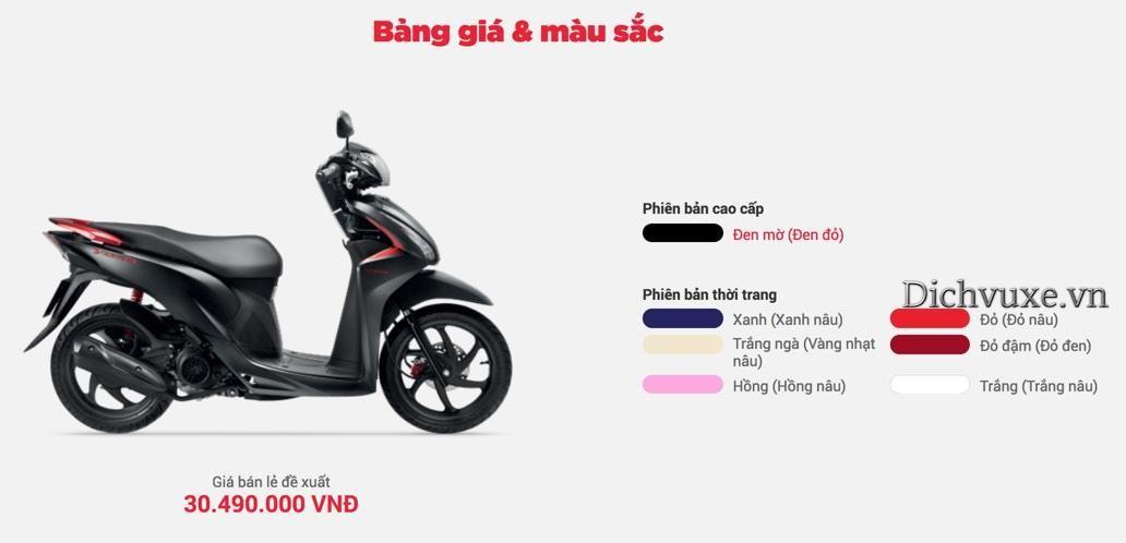 Gia Xe Honda Vision Tại Cac đại Ly Ngay 20 3 2020 Honda Tai
