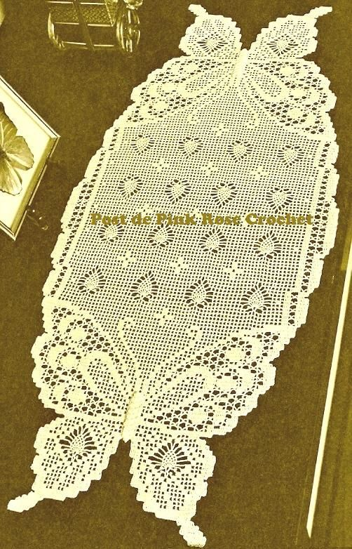 Claudinha croche | Crochet ... | Crochet table runners | Pinterest ...