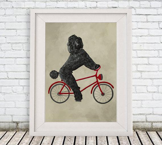 Poodle Print, poodle Illustration Art Poster #art #print #digital @EtsyMktgTool http://etsy.me/2f0cxVR