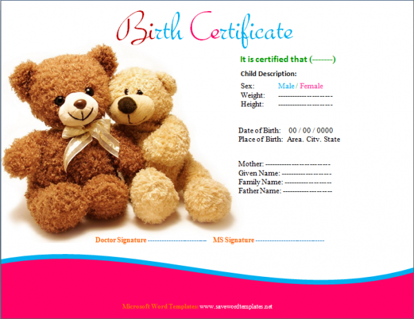 Birth certificate template teddy design certificate templates birth certificate template 31 free word pdf psd format college graduate sample resume examples of a good essay introduction dental hygiene cover letter yelopaper Choice Image
