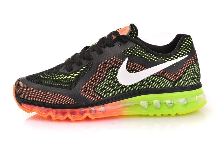 Nike Air Max 2014 Black Team Orange Volt Shoes in stock. The best sale air  max 2013 black orange volt shoes will be your best choice.