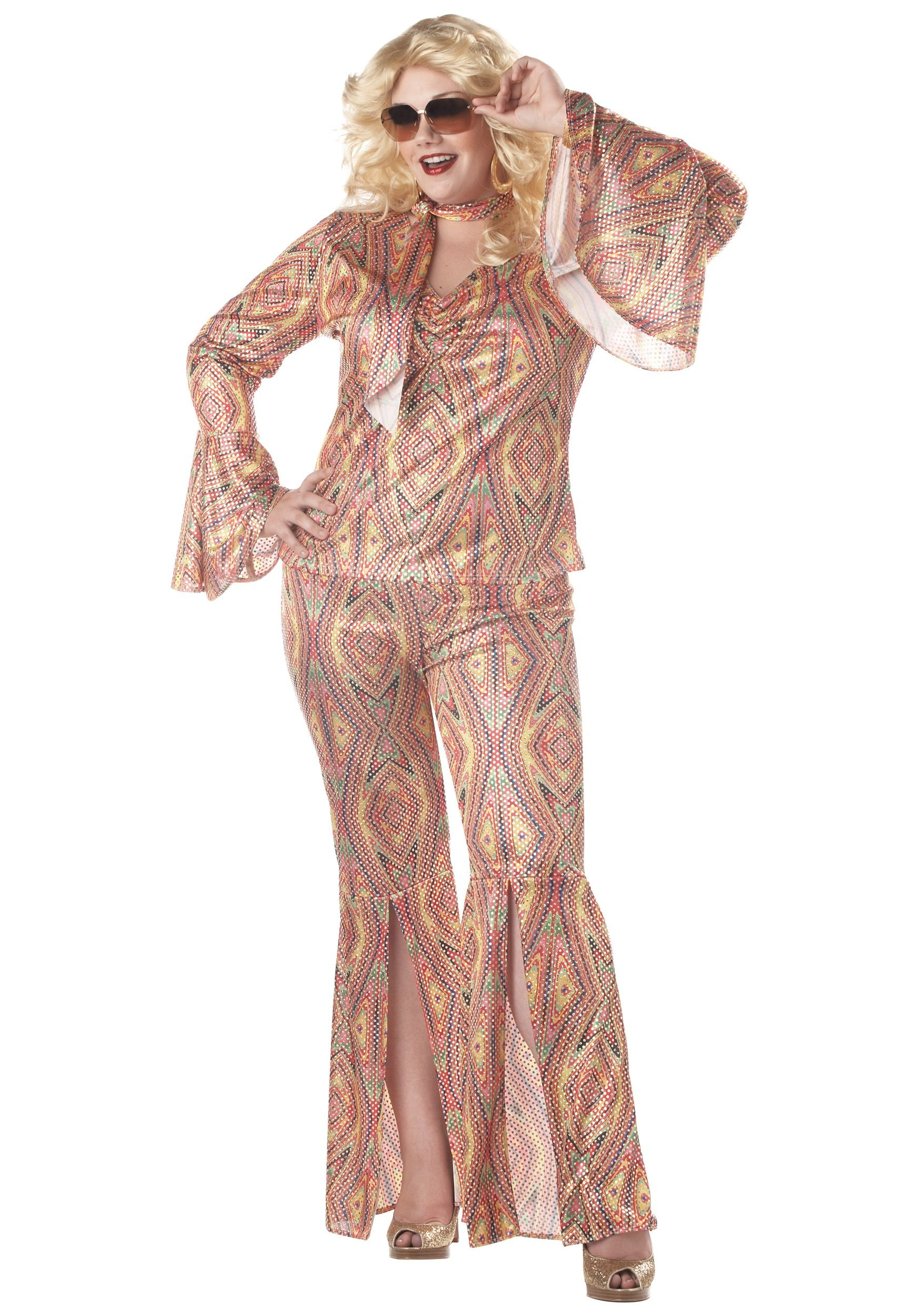 Plus Size Women\'s Disco Costume | Plus Size Halloween Costumes ...