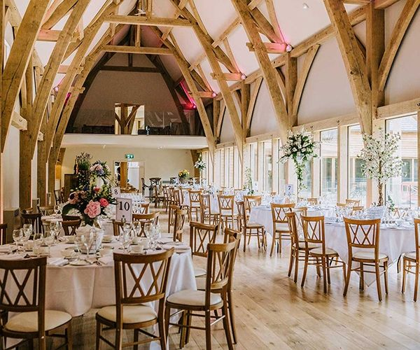 Set Up For A Wedding Breakfast At The Mill Barns Wedding Venue In