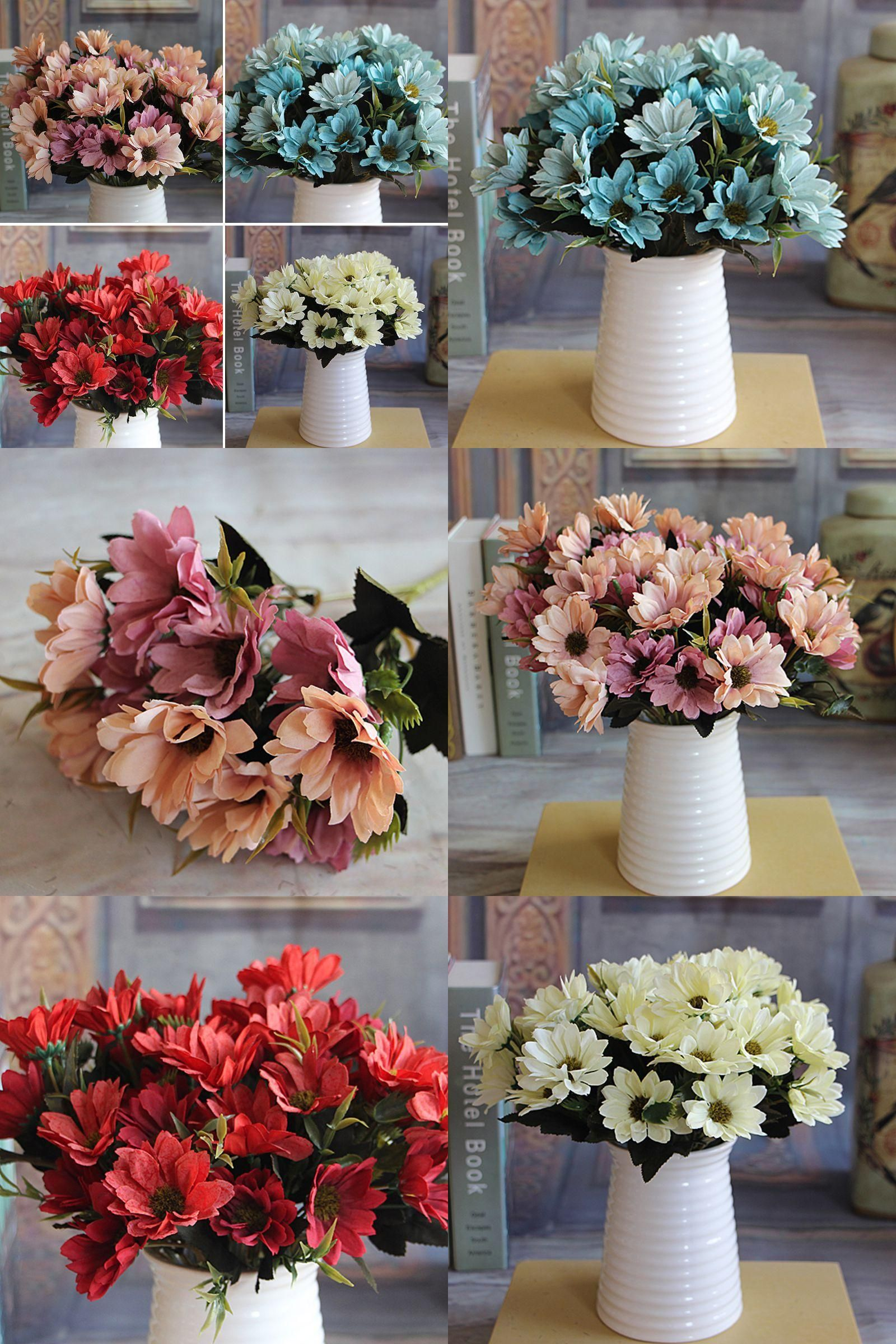 Visit To Buy 1 Bunch Man Mad Bridal Daisy Flowers Fake Silk Bouquet