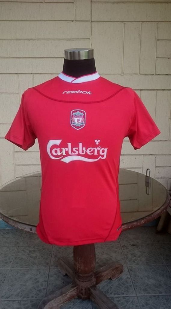 336d0aecfb0 ENGLISH PREMIER LIVERPOOL FC 2002-2003 LEAGUE CUP CHAMPION HOME REEBOK  HYDROMOVE JERSEY SHIRT KIDS  WOMEN