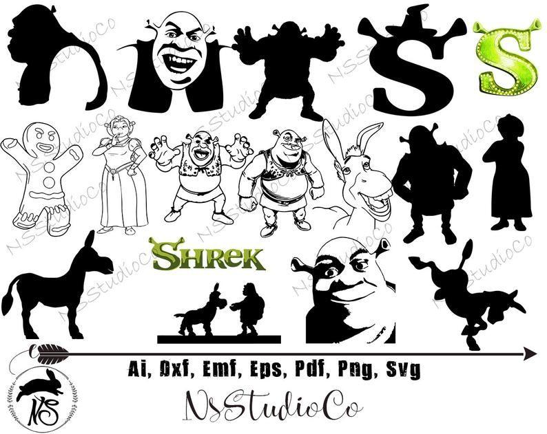 Shrek Silhouette Panosundaki Pin