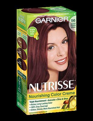 Nourishing Color Creme 56 Medium Reddish Brown Sangria Red Hair Colorgarnier