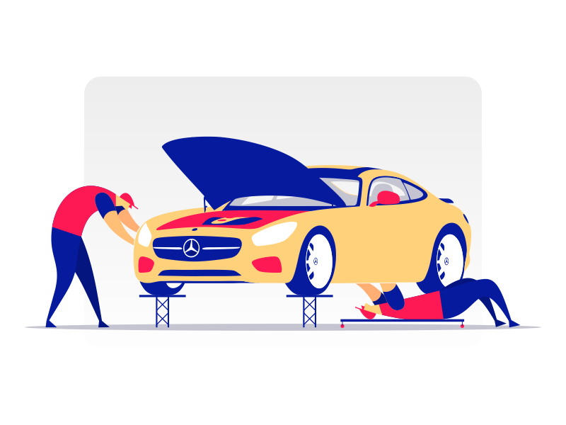 Benz Vector Illustration Design Illustration Example Graphic Illustration