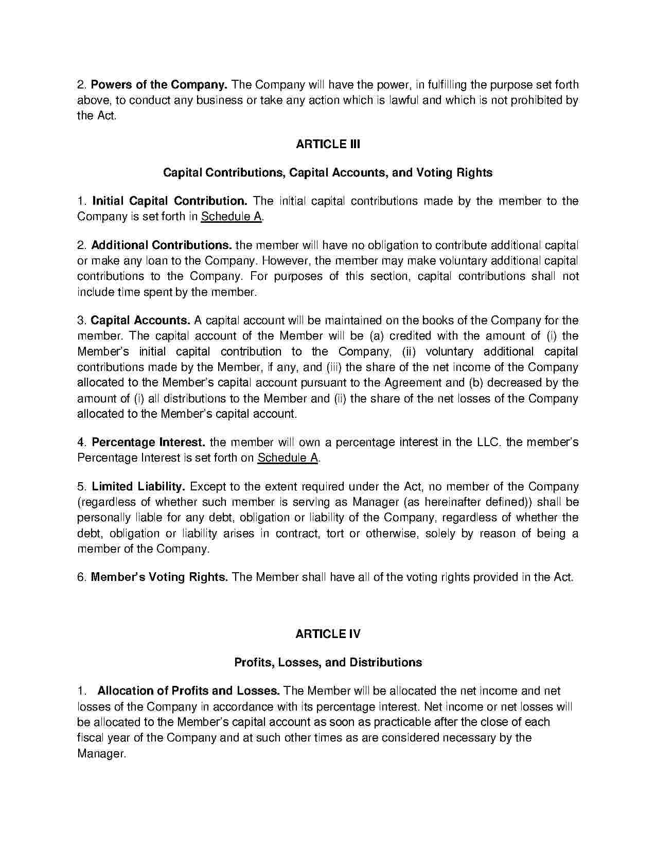 Limited Liability Company (LLC) Operating Agreement (With