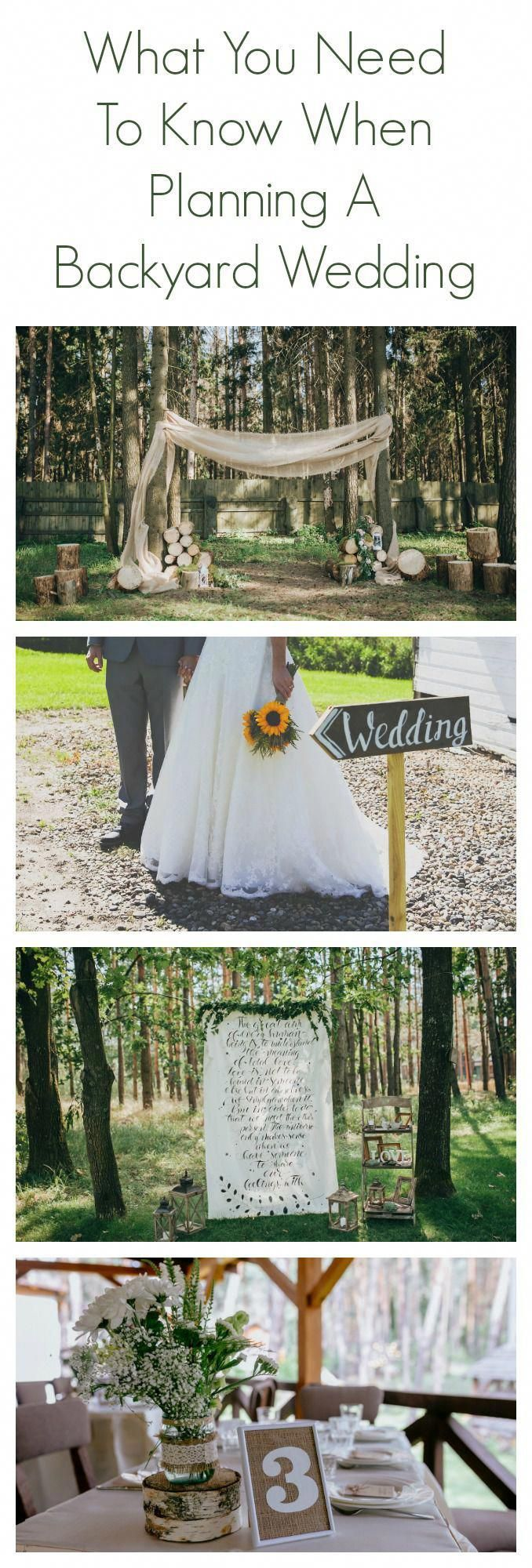 What You Need To Know About Planning A Backyard Wedding # ...
