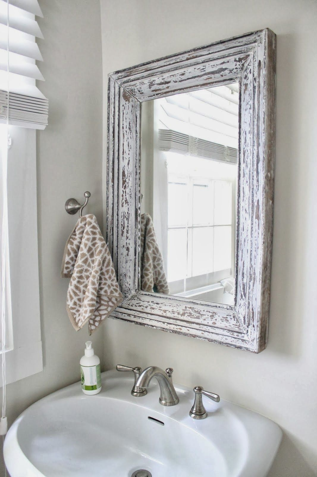 Best photo pictures and ideas about bathroom mirror shabby chic