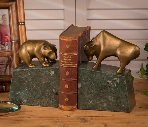 Home Office, Bookends Bear And Bull It Has A Bull And Bear Bookends Will  Provide