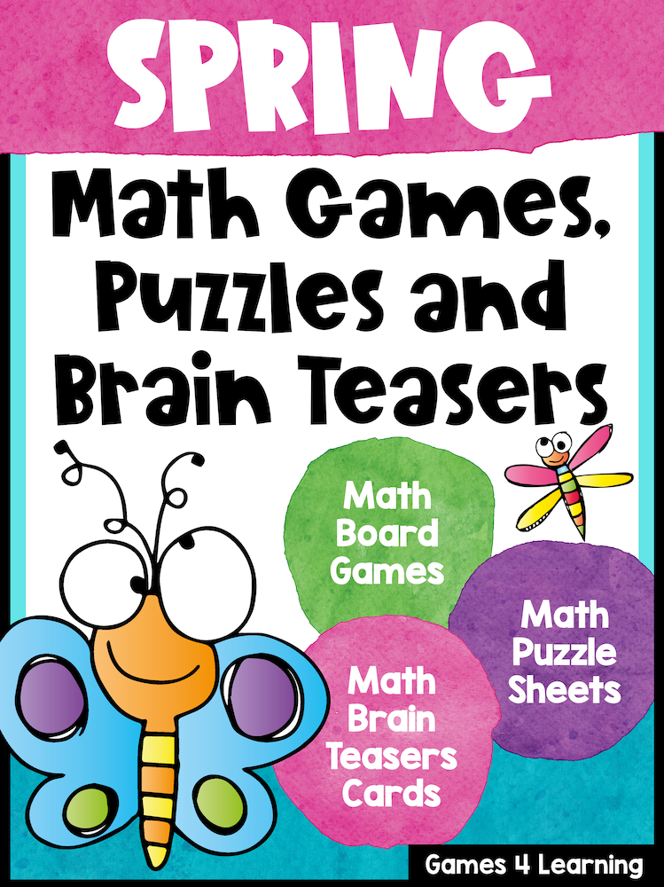 Spring Math Worksheets Games Brain Teasers Spring Math Activities Spring Math Worksheets Math Activities Spring Math Activities