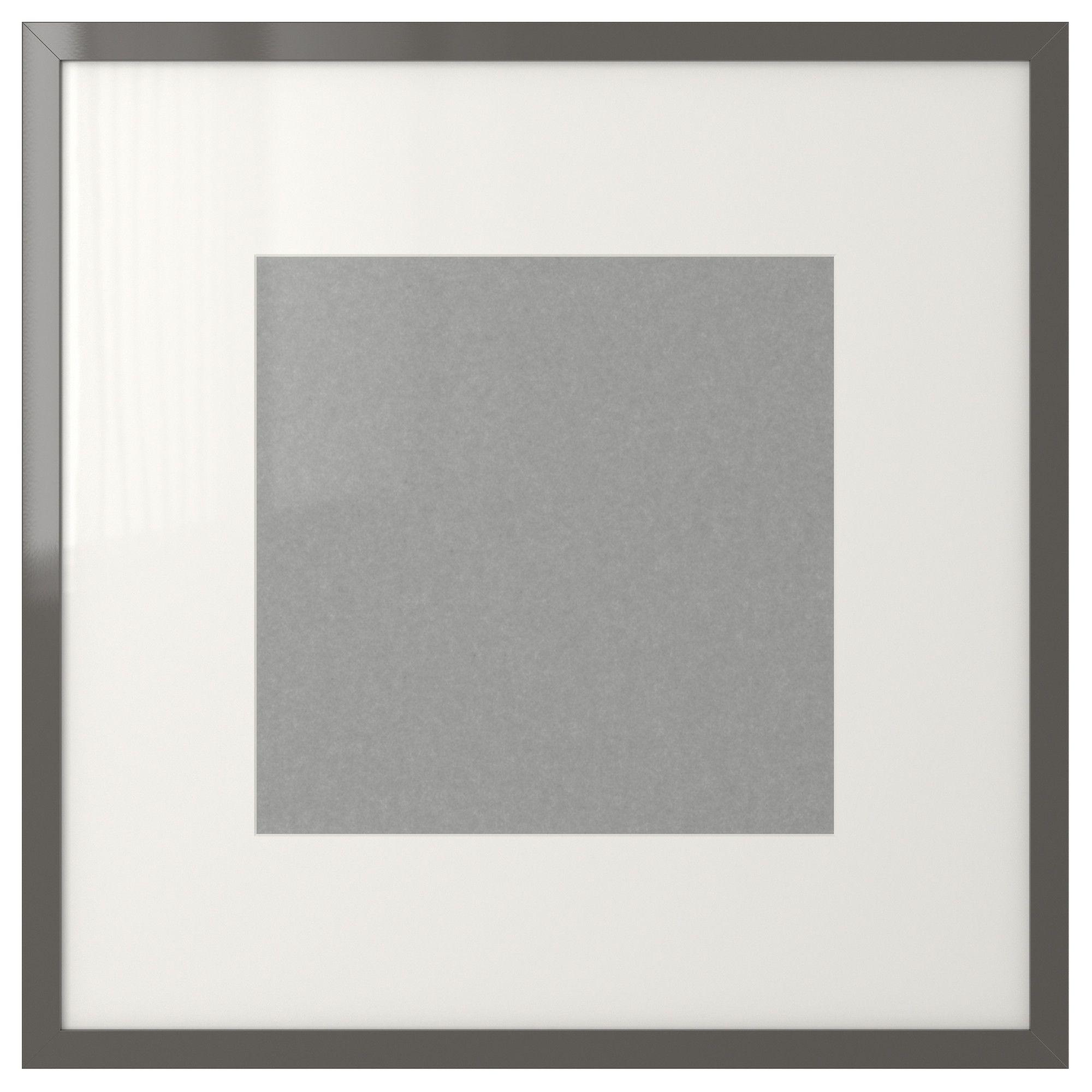 Ribba frame high gloss gray ikea adrien nursery for Ikea ribba