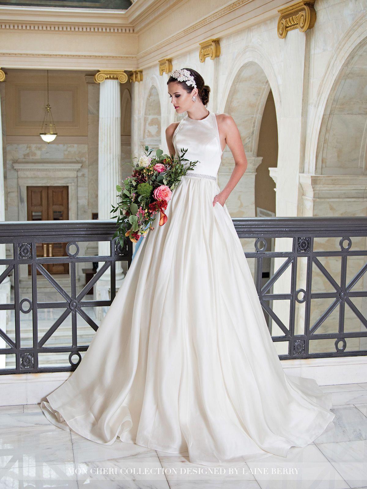 satin wedding dress 2018 collection