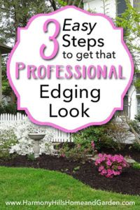 3 Easy Steps to Get That Professional Edging Look is part of Easy lawn Edging - Follow these simple steps to get a neat, trim appearance on your flower beds  Boost curb appeal with professional edging, make your lawn look great!