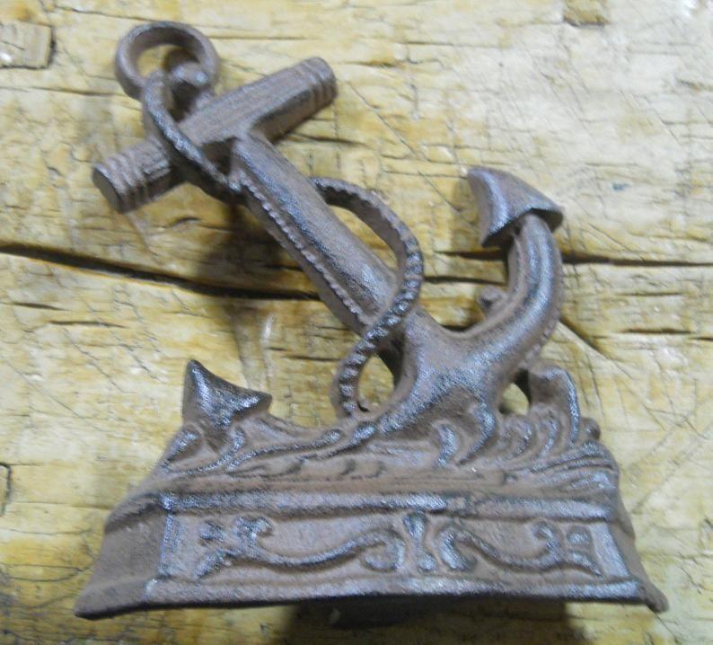 Decorative Cast Iron Nautical Anchor Doorstop