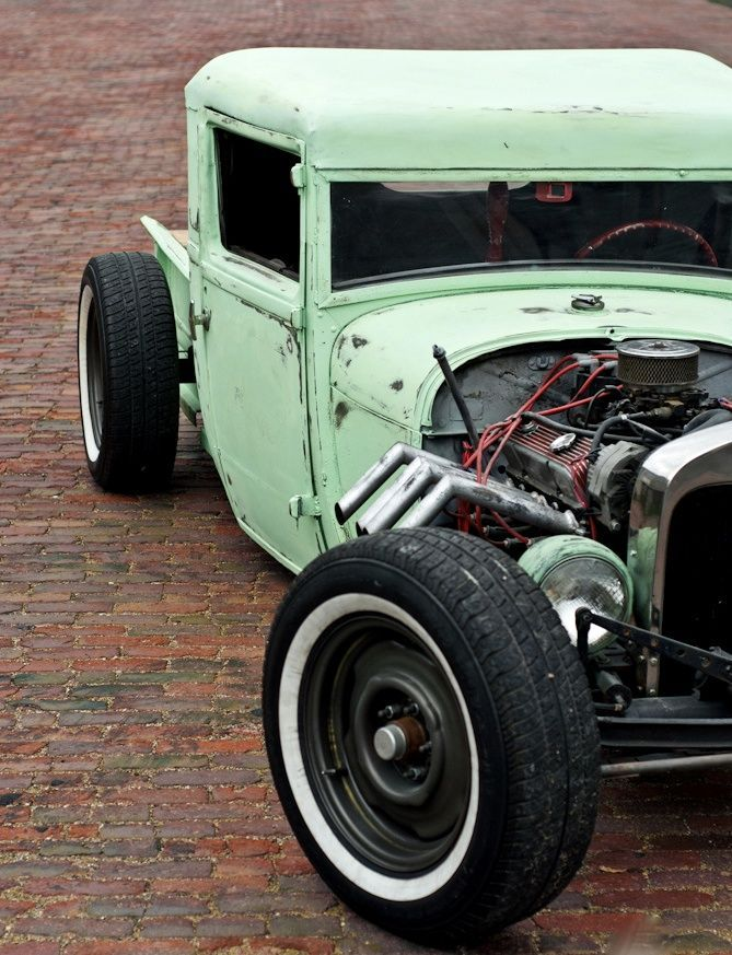 This #HotRod is so cool in mint green. #Classic #Custom #Style #Design #Speed #Power