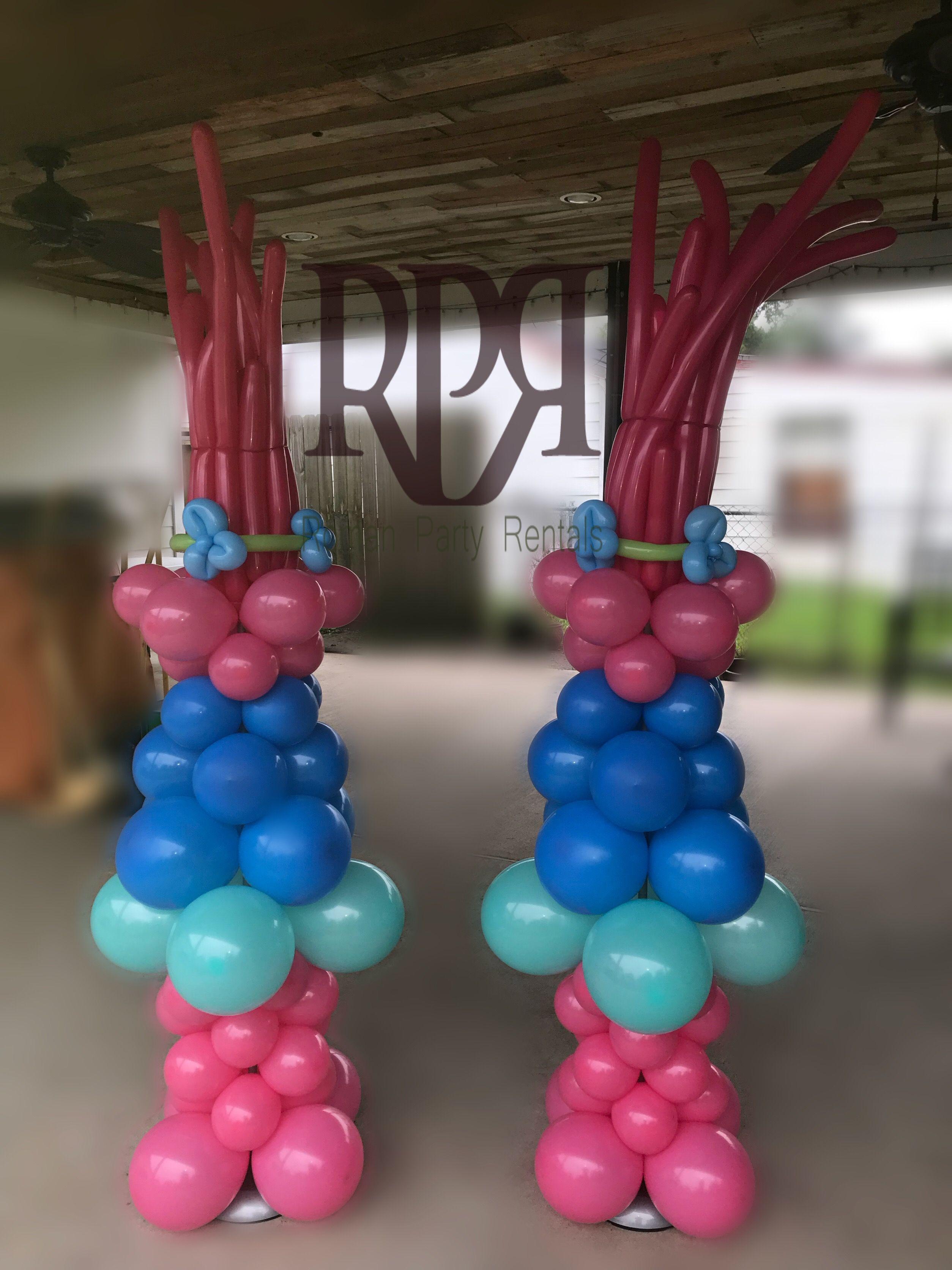 Balloon Decor 29\u201d Birthday party Trolls Poppy Balloon