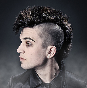 punk hairstyles guys with curly