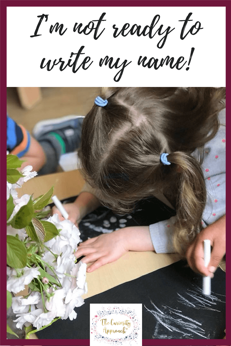 curiosity, write, name , early years #curiosityapproacheyfs