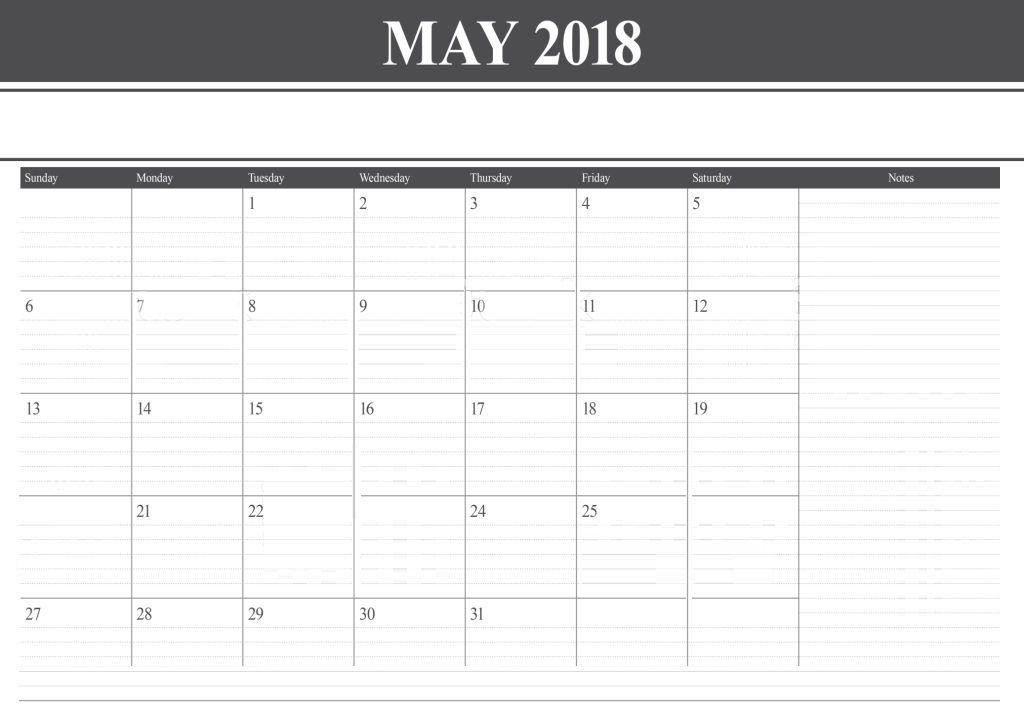 office 2018 calendar