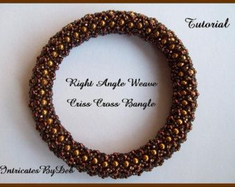 Pattern for Backsplash Bracelet and Earring with by WescottJewelry