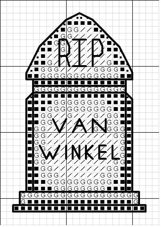 tombripvanwinkel.jpg tombstone grave marker cross stitch point de ...