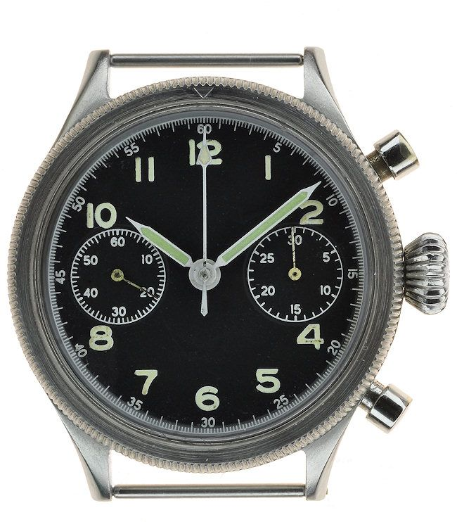 """Breguet Type 20 """"retour en vol"""" chronograph, the only model that should technically be called a """"Type 20"""" from 1954.  $13,995"""