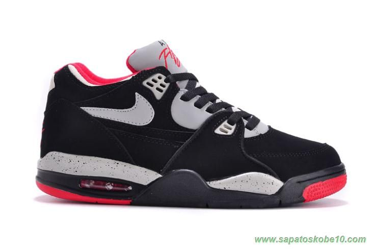 Fast Shipping To Buy Nike Air Flight 89 Black/Red Leather Mens