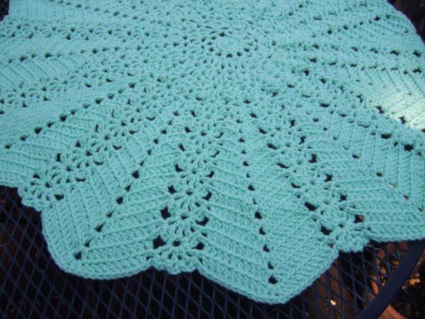 Teal Round Ripple Blanket Crochet Pinterest Crochet Crochet