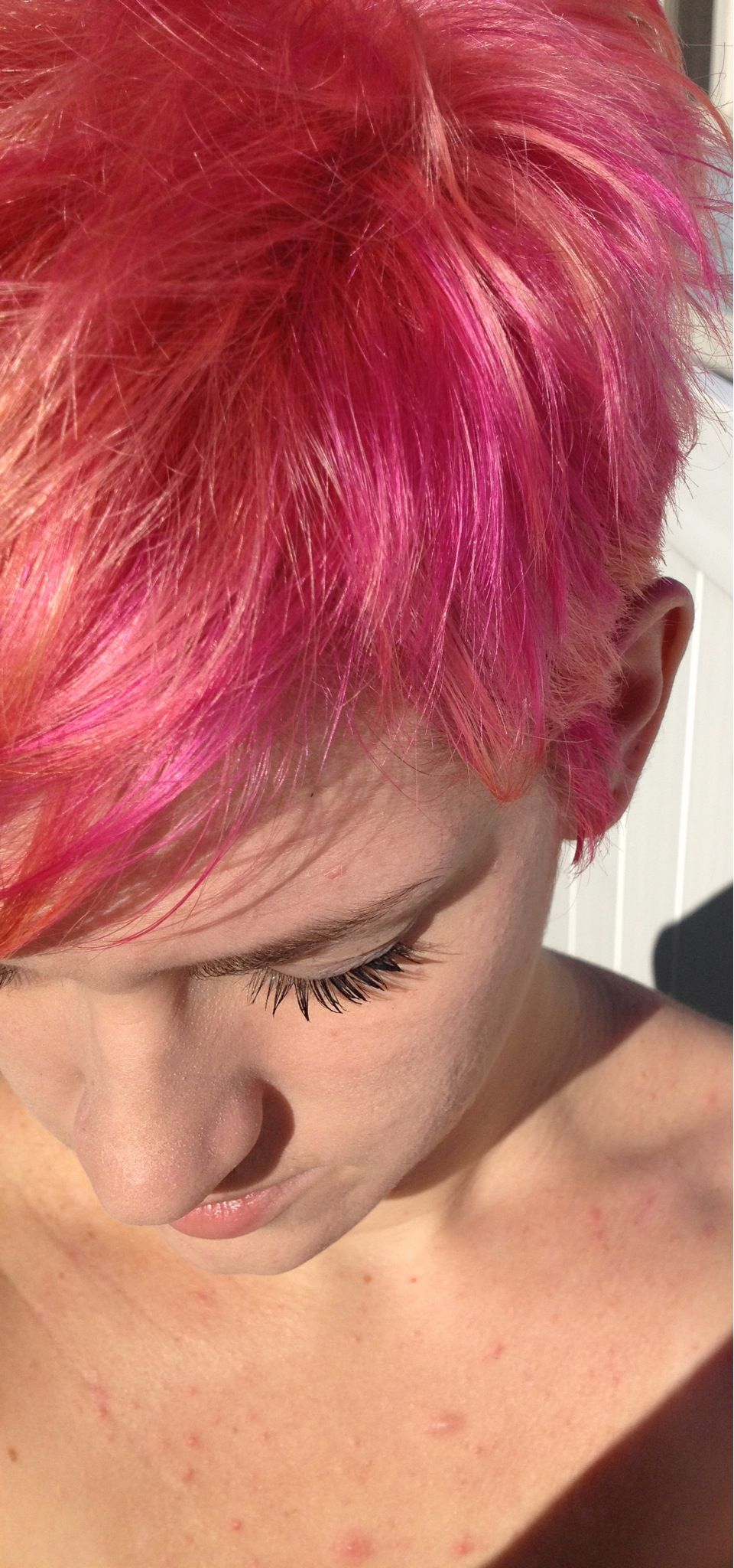 Pink haired pixie ugh another cutybe hair pinterest