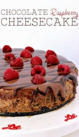 Need a chocolate dessert for Valentine's Day? This Chocolate raspberry cheesecake is the perfect dessert recipe for date night in!