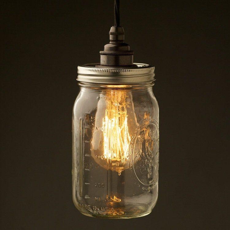 fabriquer une suspension ides cratives et kilner jarsmason