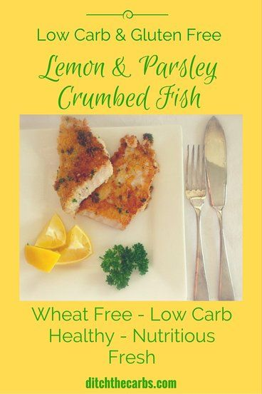 Lemon and Parsley Crumbed Fish Low-carb and gluten-free lemon and parsley crumbed fish. SO fresh, healthy, nutritious and incredibly tasty. Such a simple recipe. |
